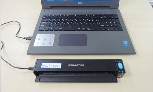 ScanSnap iX100とPCを接続する